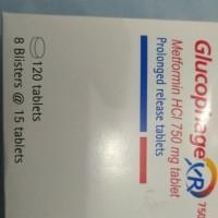 glucophage xr 750 mg(isi 120 tab)