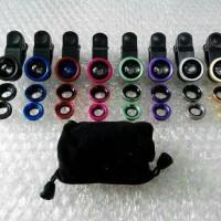 Jual Terlaris Fisheye Jepit Panjang / Universal Clip Lens 3 in 1 Murah