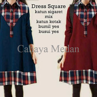 Jual EXCLUSIVE cn 7067 dress tunic square Baju kaos kemeja pakaian atasan l Murah