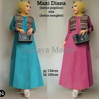 Jual TERBATAS cn 65127 maxi diana terusan dress tunik kemeja imut simple el Murah
