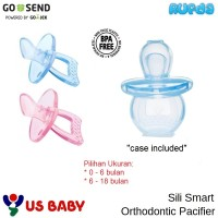 US Baby Sili Smart Orthodontic Pacifier Empeng Bayi BPA Free