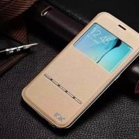 Leather Flip Cover KXX Alumunium Bumper Samsung S6 Edge case