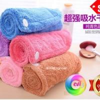 Jual Handuk Penyerap Air Keramas Good Material - Hair Wrap Magic Towel Murah
