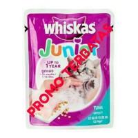 Whiskas Junior wet food kemasan Pouch 85gram, Tuna