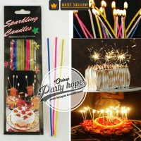 lilin sparkling / lilin ulang tahun / lilin kembang api