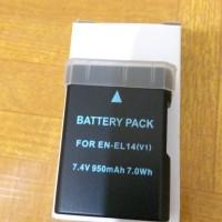 Baterai Battery NIKON EN-EL14 ENEL14 ENEL 14 FOR D3100 D3200 D5100