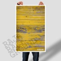 Jual ALAS FOTO YELLOW RUSTIC  WOOD 50cm x 100cm  (Lebih Besar dari A2 & A1) Murah