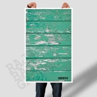 Jual ALAS FOTO GREEN RUSTIC  WOOD 50cm x 100cm  (Lebih Besar dari A2 & A1) Murah