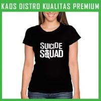 Jual Kaos Suicide Squad Logo 1 Wanita Cewek WNT-SUC01 Murah
