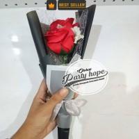 buket bunga sabun merah / hadiah wisuda / flowers soap / anniversary