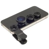 Jual LIMITED Universal Clip Lens 3 in 1 (Macro, Wide, Fish Eye) Murah