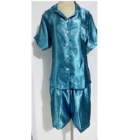 Jual piyama baju tidur satin setelan celana cantik Murah