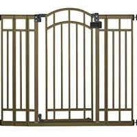 summer infant extra tall walk through gate decorative bronze