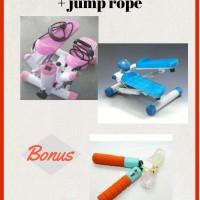 Jual Alat Olahraga Mini Stepper Bonus Jump Rope Murah