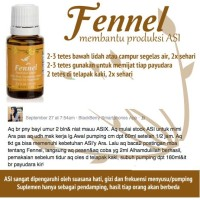 special produk Young Living - Fennel Oil (boost your milk supply)