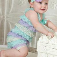 Jual Terlaris Romper renda anak bayi import baby lace petti romper Murah