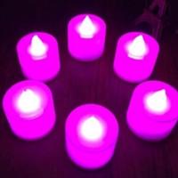 Jual Lampu Lilin elektrik LED tanpa api mini menyala warna n Diskon Murah