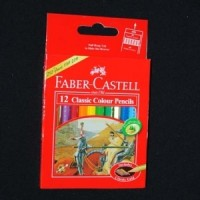 Jual Pensil Warna Faber Castell Classic 12 Pendek Murah