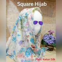 PROMO Jilbab kerudung segi empat motif katun silk Murah