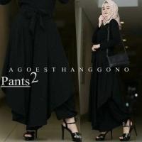 D Agoest Pants Premium Bawahan Wanita Celana Kulot Bahan Rrs64