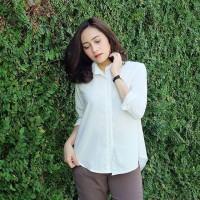 Jual gio basic shirt white /casual dress / hem /bmd /myfriendstore Murah