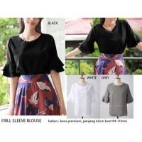 Promo murah Pakaian Baju atas Wanita Frill sleeve blouse Model Terbaru