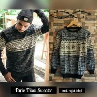 Jual Baju Pakaian Atasan Pria Jaket Kaos  Farie Tribal Sweater Murah