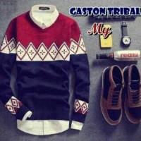 Jual Baju Pakaian Atasan Pria Jaket Kaos  Gaston Tribal Murah