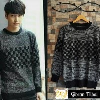 Jual Baju Pakaian Atasan Pria Jaket Kaos  Gibran Tribal Sweater Murah