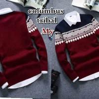 Jual Baju Pakaian Atasan Pria Jaket Kaos  Colombus Tribal Murah