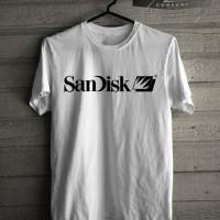 MURAH Kaos T shirt gadget Logo Sandisk Murah URBAN STORE