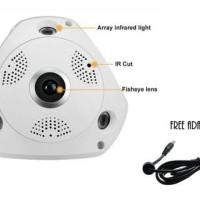 Jual Vr 3D Panoramic Ip Camera 1.3Mp Fisheye Lens Wifi Cctv 360 Degree View Murah