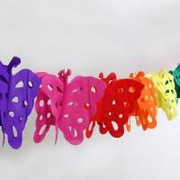 Jual Kostum Pesta  garland hiasan gantung kertas slinger butterfly kupu Murah