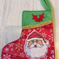 Jual Christmas Kaos Kaki Velvet Spoil Santa Murah
