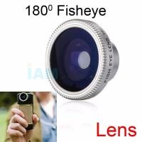 Jual Fisheye Single Lens 180 for Handphone Lensa HP Fish Eye Universal Murah