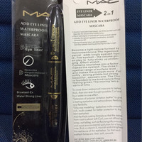 MAC MASCARA DAN EYELINER 2 IN 1 WATERPROOF AND LONG LASTING