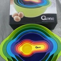 Jual Oxone Mangkok Pengaduk /8pcs Mixing Bowl Set Rainbow OX-041 Murah