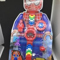 Jual SALE MURAH Jam Tangan Anak Digital Lego Karakter Spiderman  Murah