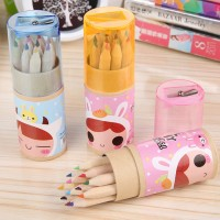P047 Crayon 12 Warna Plus Serutan Set pensil Cat pensil warna Rautan