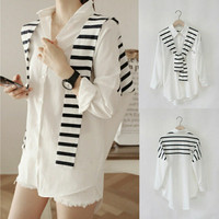 kemeja putih cotton warna atasan fashion korea blouse zara pakaian new