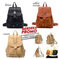 B329 Tas Backpack Ransel import wanita leather
