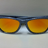 Original kacamata Oakley Frogskins custom carbon frame lensa fire