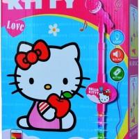 Set mic Microphone Karaoke Seri Hello Kitty Pink Single Seru