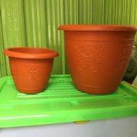 KHUSUS GOJEK Pot Bunga Plastik flora warna 40 cm