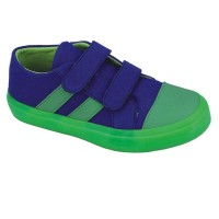 Sepatu Slip on Anak Laki Canvas Biru Hijau Catenzo Junior CRF 002 ori