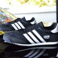 sepatu laki laki adidas dragon sneaker +hitam list putih+
