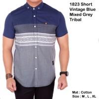 Jual short vintage blue mixed grey tribal Murah