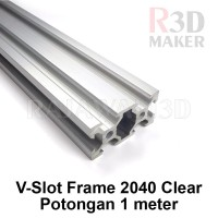 V Slot Aluminium Profile Extrusion Rail 2040 Clear OX CNC Frame 100cm