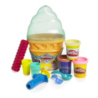 Play-Doh Sweet Shoppe Ice Cream Cone Container - Green