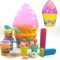 Play-Doh Sweet Shoppe Ice Cream Cone Container - Pink